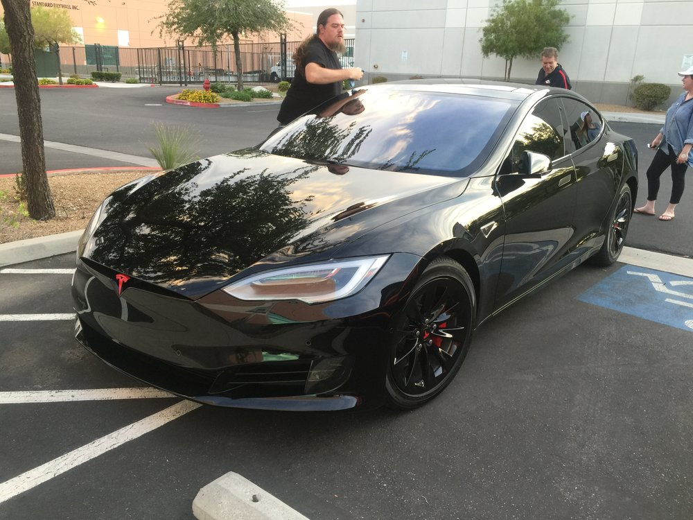 Tesla Model S - Gloss Black Chrome Delete, Gloss Black Rim Wraps, and Caliper Wraps