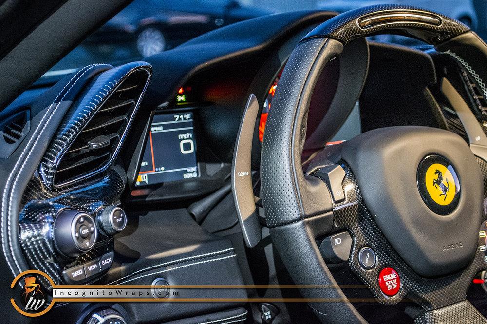 carbon wrap service fiber vinyl interior car