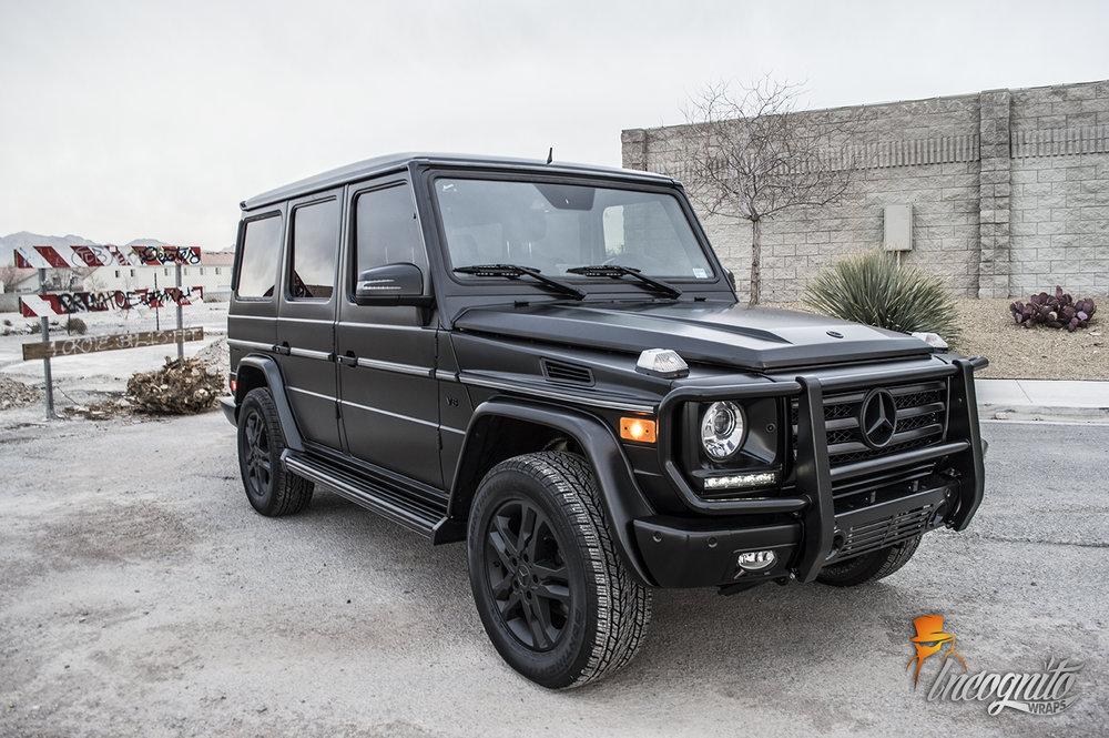 Mercedes G Wagon Satin Black