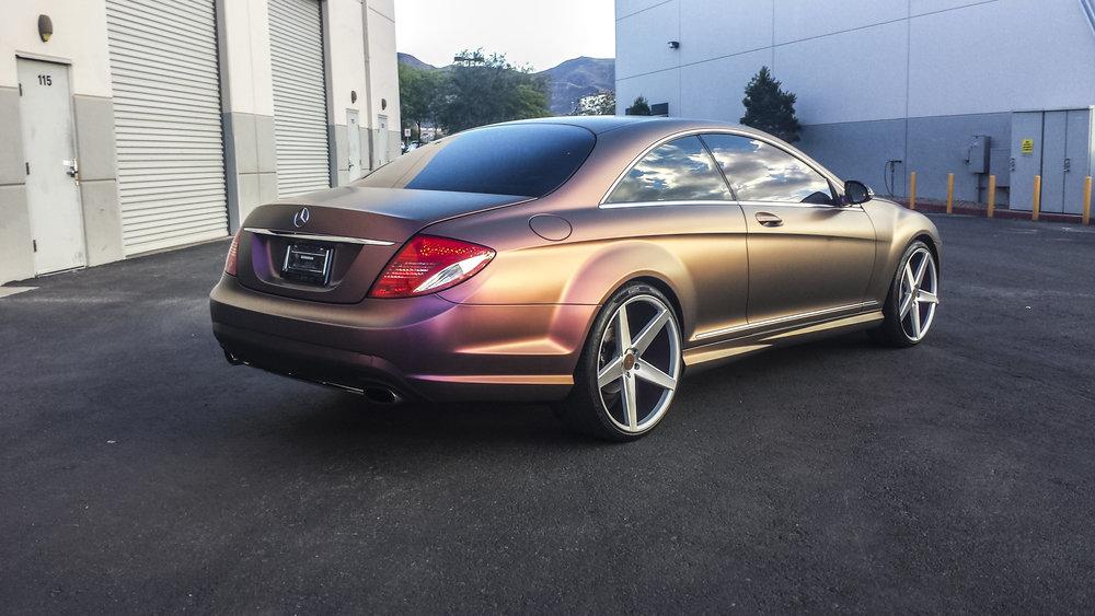 Mercedes CL550 Shift Effect Bronze Aubergine
