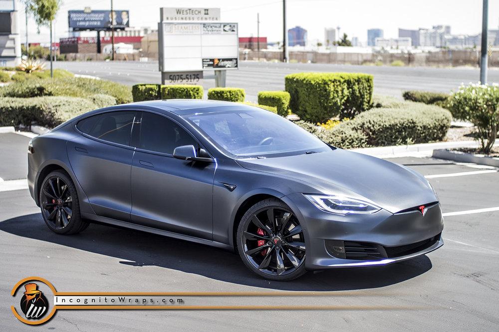 Tesla Model S Matte Magnetic Black