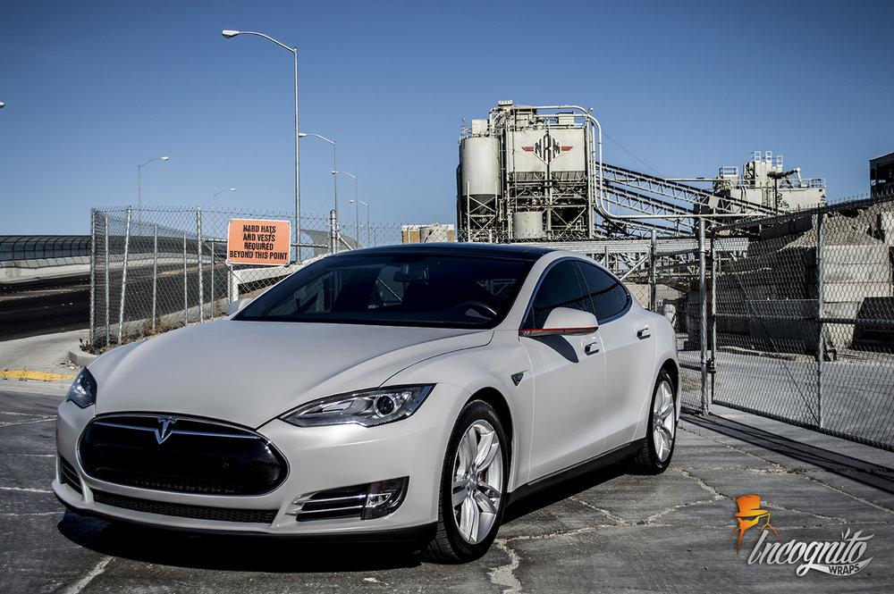 Tesla Model S Satin Clay Grey