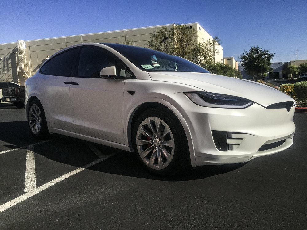 Tesla Model X Satin White