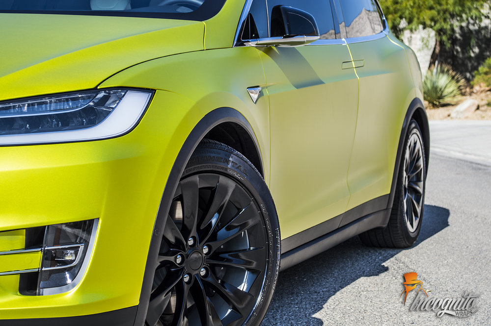 Tesla Model X Satin Lime Candy