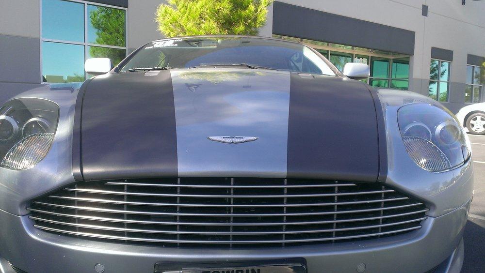 Aston Martin Matte Black Stripes