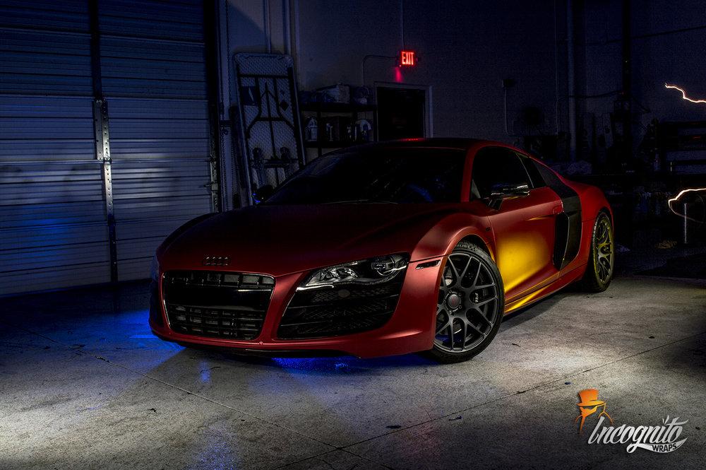 Audi R8 Matte Red Iced Titanium