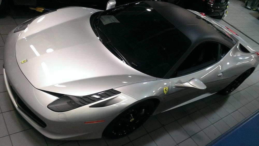 Ferrari 458 Matte Black Roof