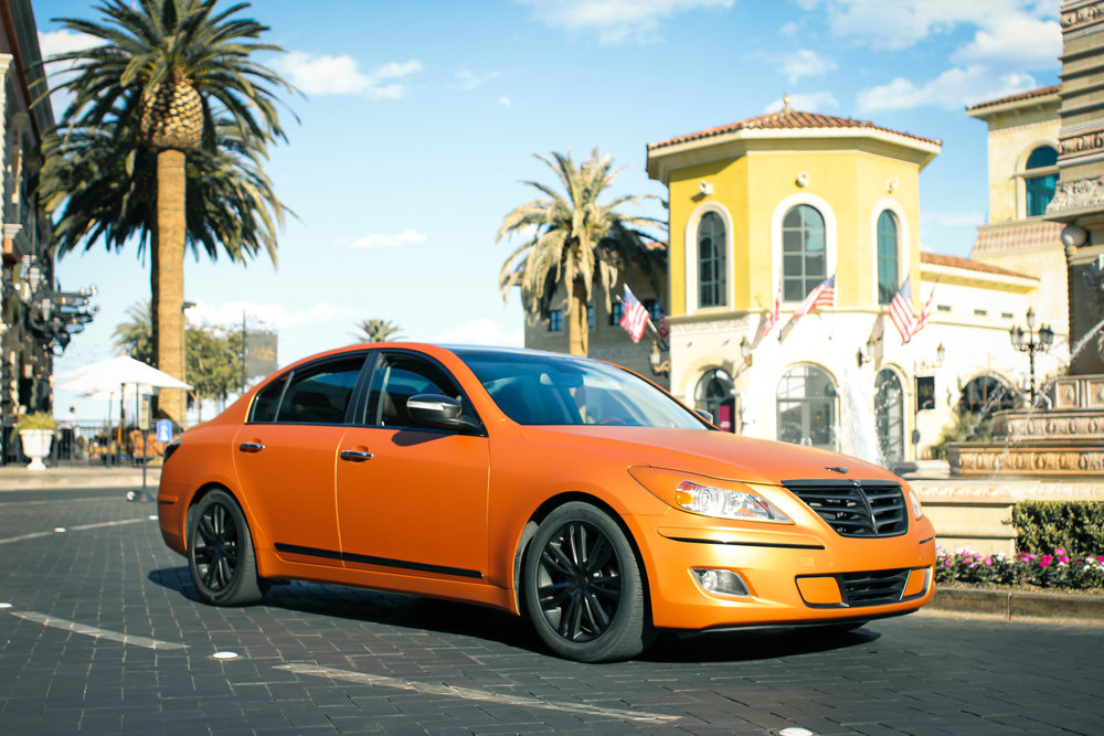 Hyundai Genesis Matte Blazing Orange