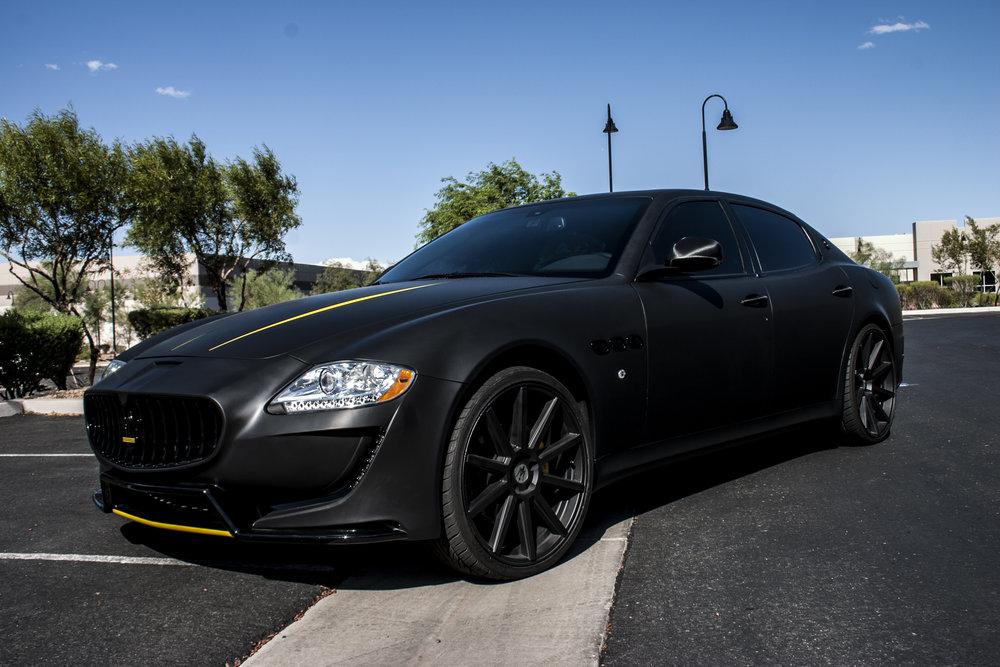 Maserati QuatroPorte Matte Black
