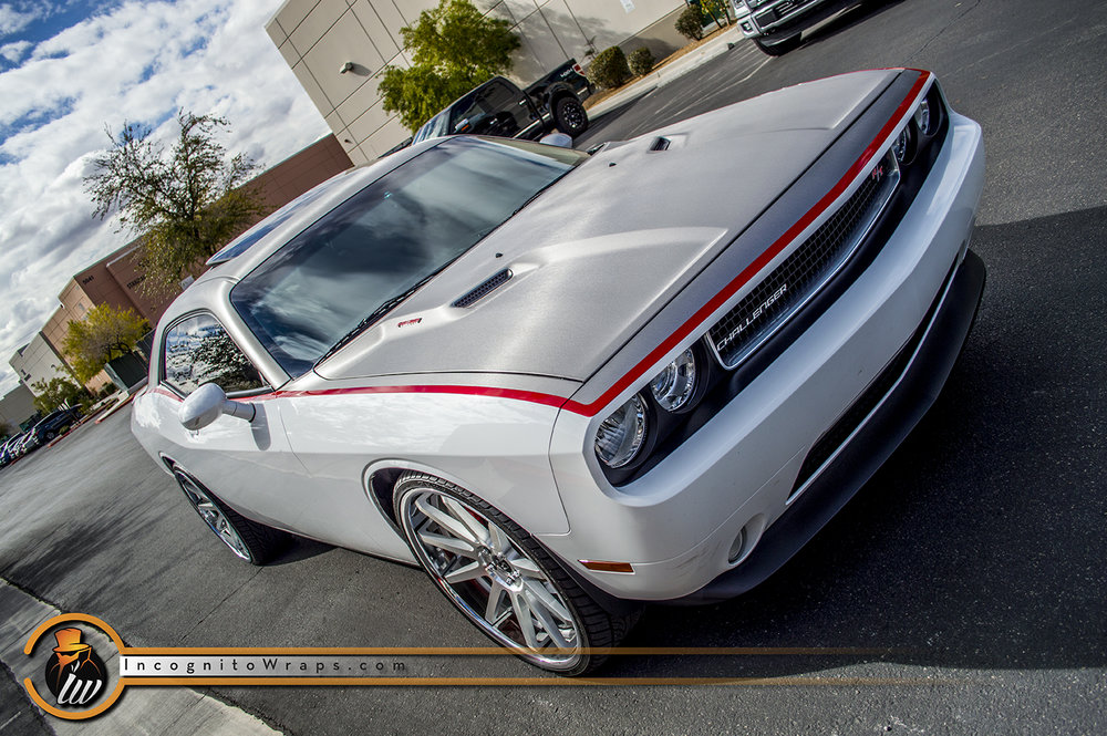 Dodge Challenger Brushed Steel Top