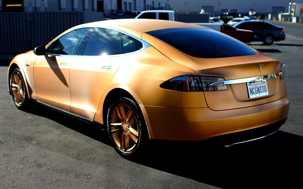 Tesla Model S Brushed Bronze
