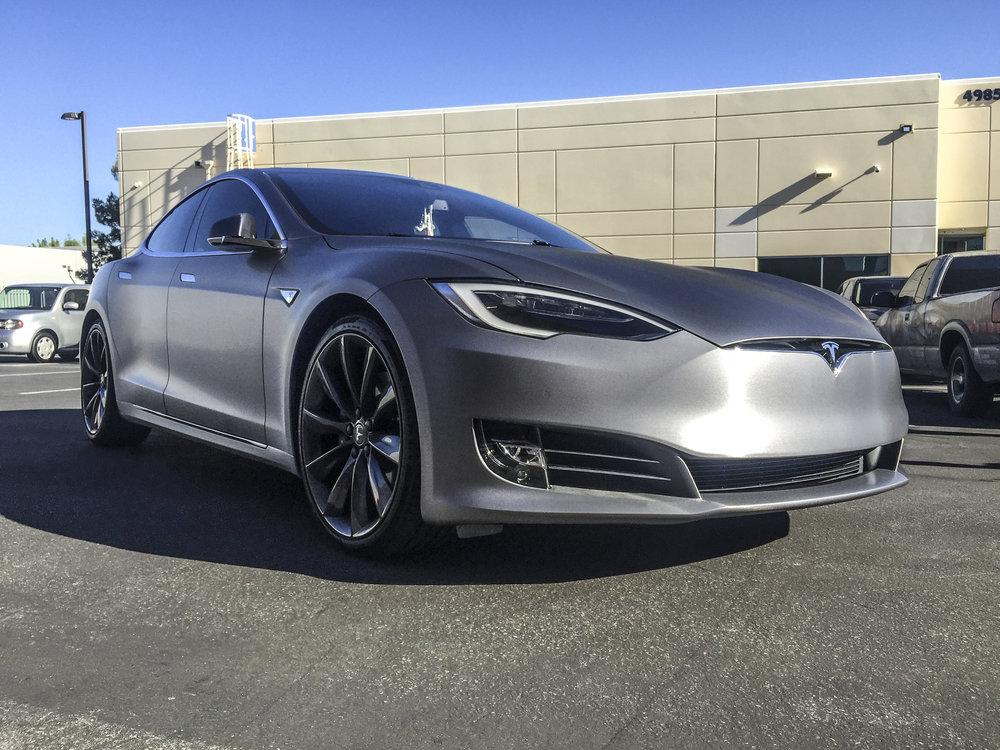 Tesla Model S Brushed Steel