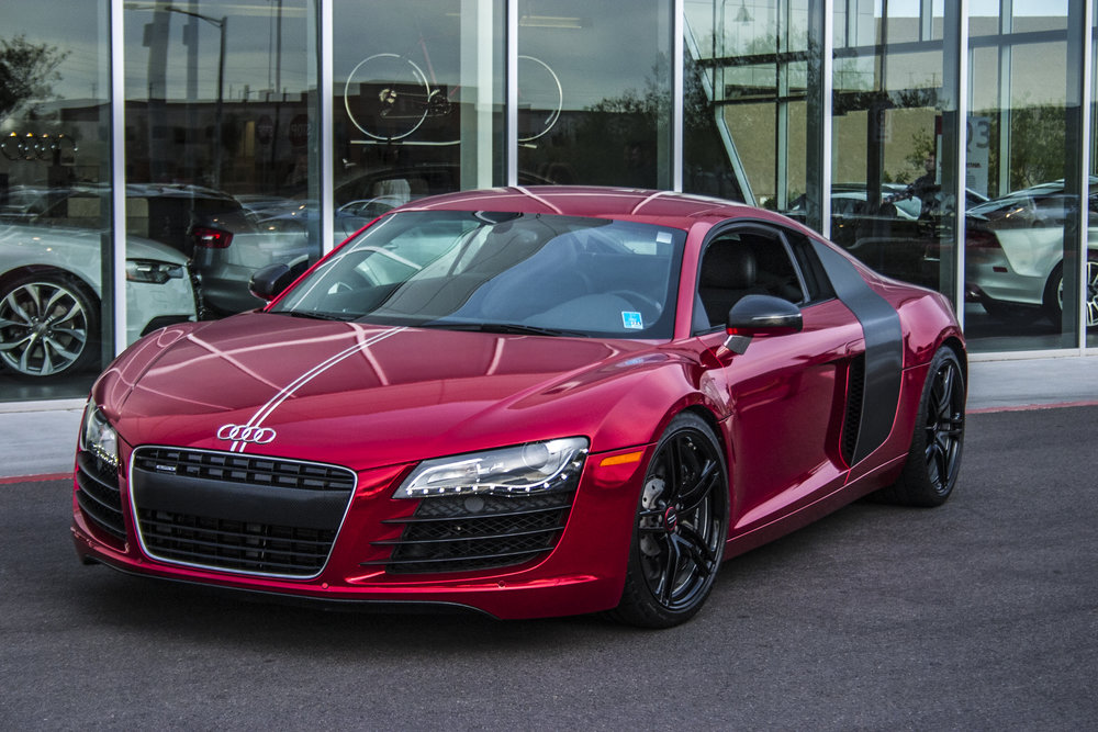 Audi R8 Red Sangre Chrome