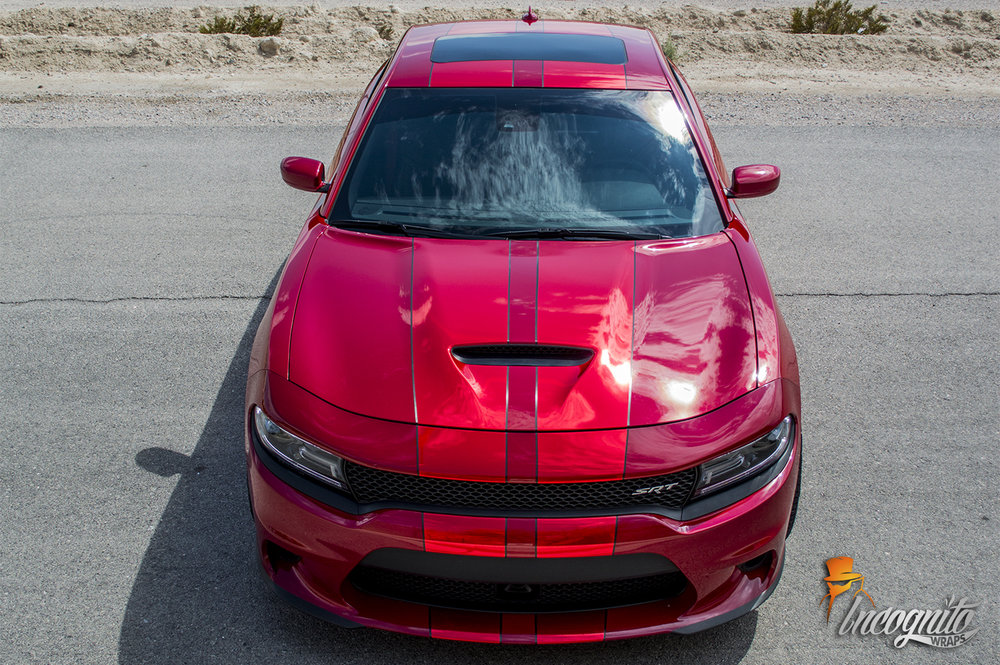 Dodge Charger SRT Red Charger Stripes