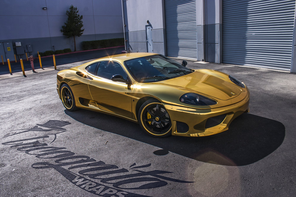Ferrari 360 Modena Gold Chrome