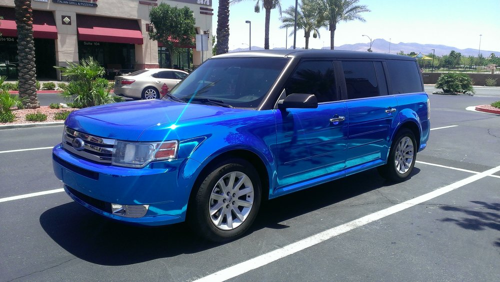 Ford Flex Blue Chrome
