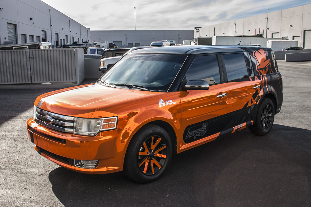 Ford Flex Orange Chrome