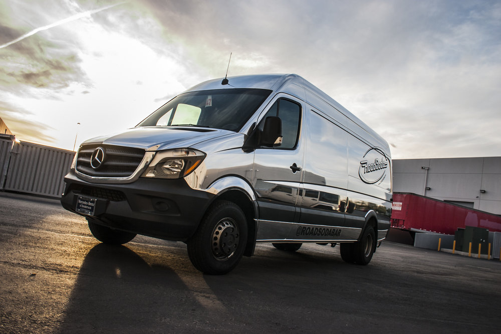Mercedes Sprinter Chrome Wrap