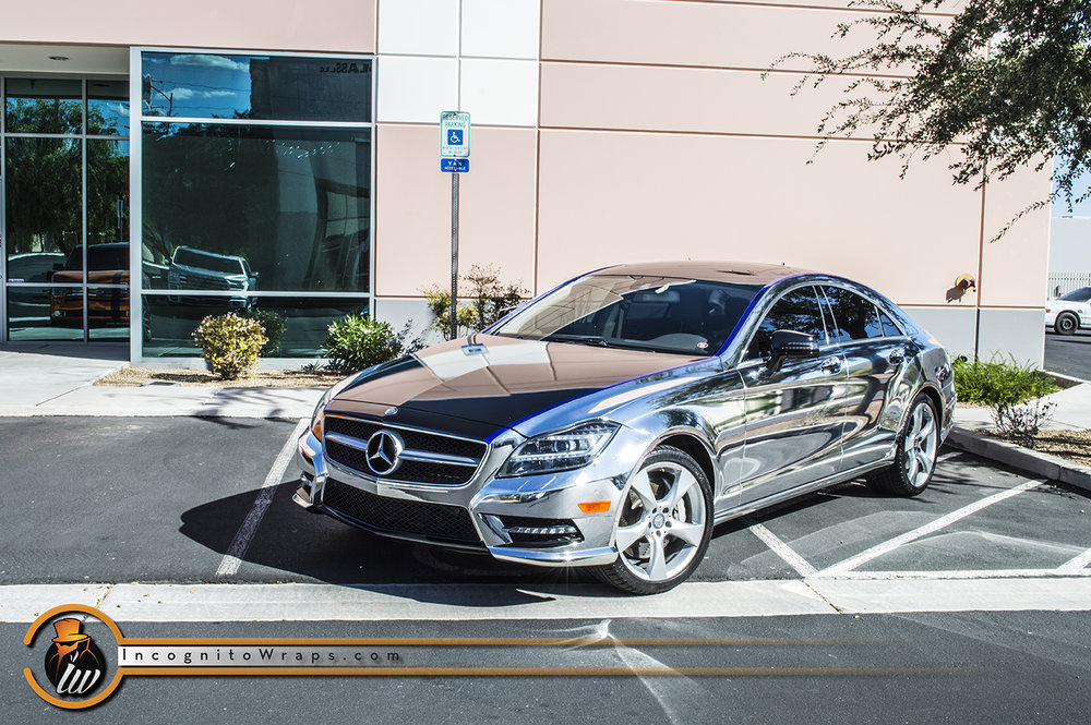 Mercedes CLS 550 Chrome Wrap