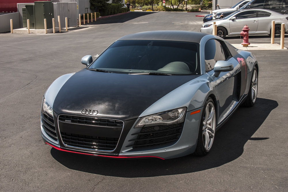 Audi R8 Carbon Fiber and Carmine Red
