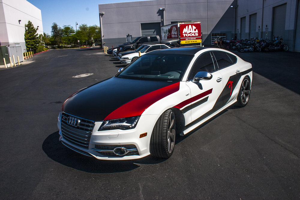 Audi S7 Carbon Fiber and True Blood Wrap