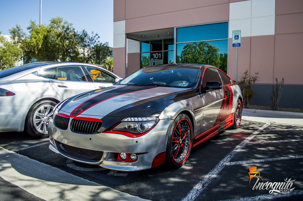 BMW 650i Terminator Chrome, Red Chrome and Carbon Fiber Oh Canada