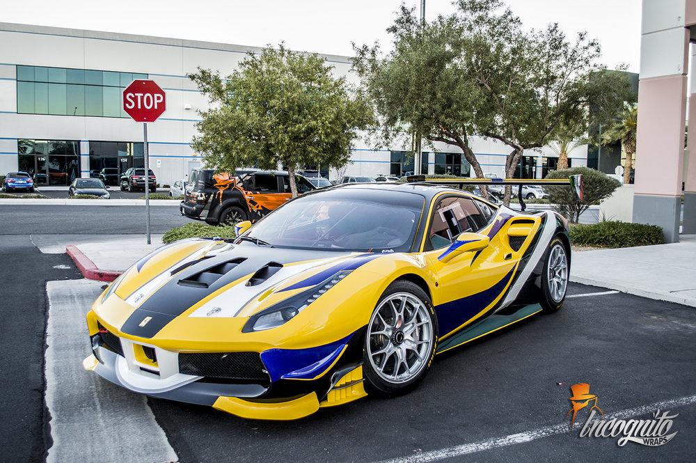 Ferrari 488 Challenge Race Design Wrap