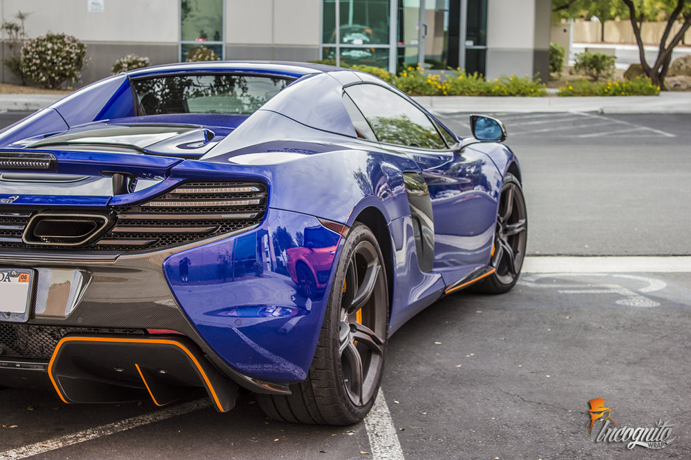 McLaren 650s Custom Orange Stripes