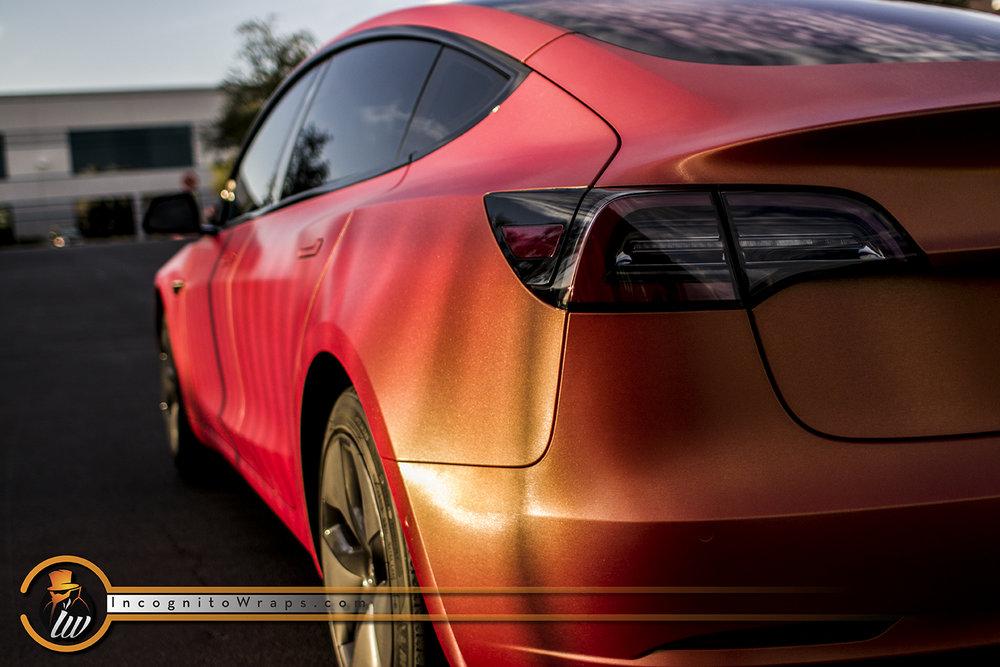 Model 3 Brushed Red Gold Sunset Shift