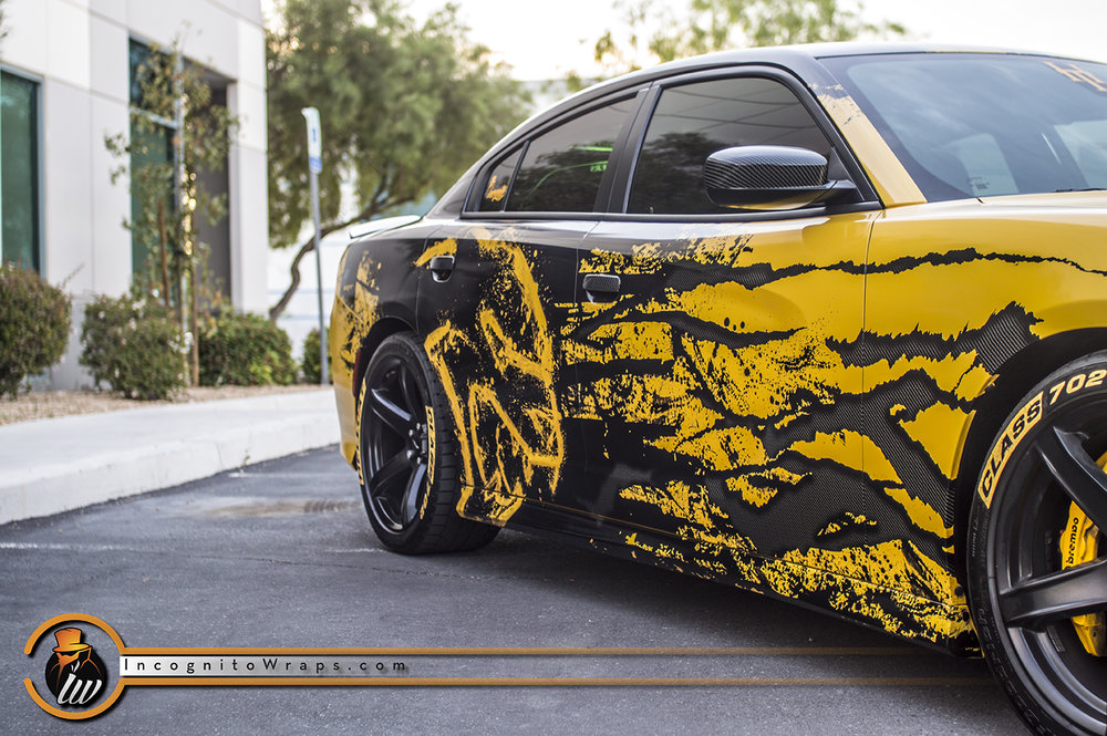 Dodge Charger Yellow Reflective Hellcat