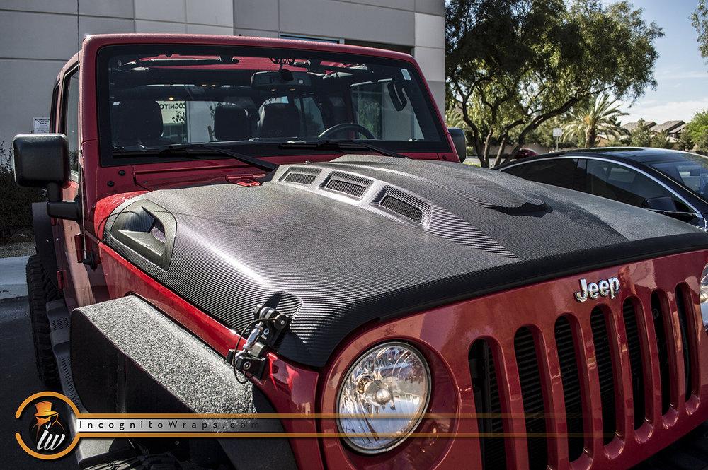 Jeep Wrangler Carbon Fiber Hood