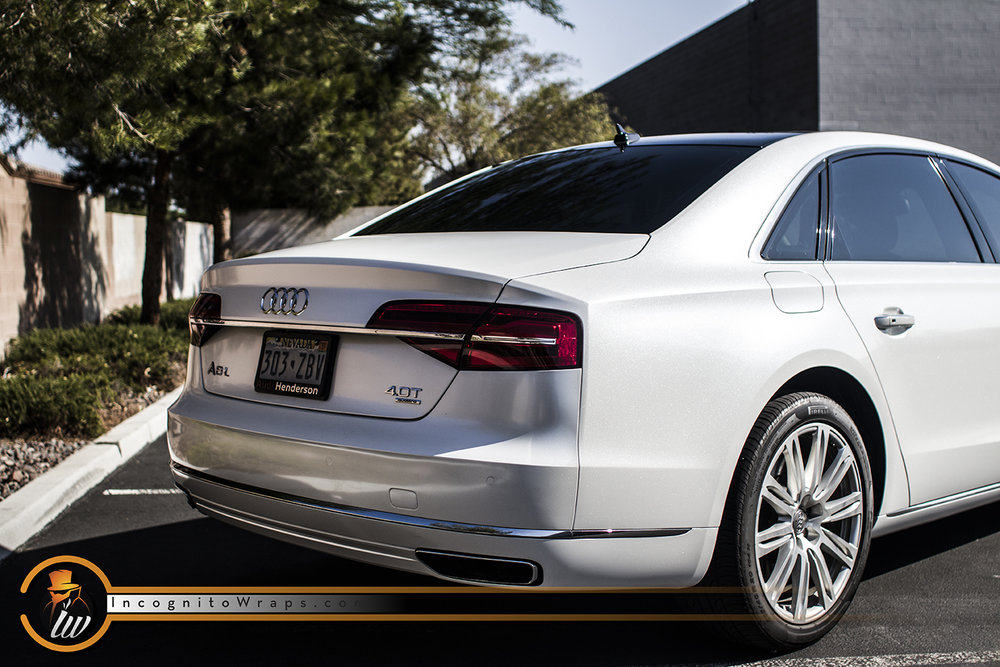 Audi A8 Crystal White