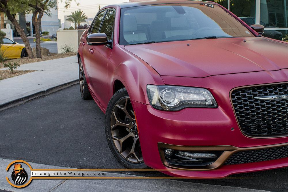 Chrysler 300 Dark Red Matte Metallic