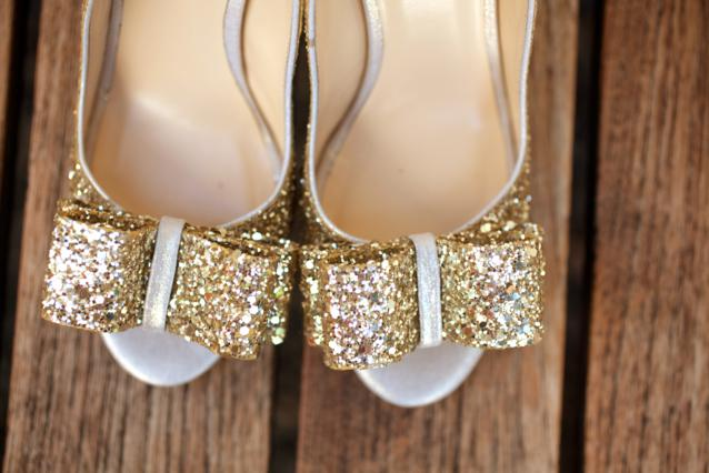 kate spade wedding shoes, gold glitter shoes