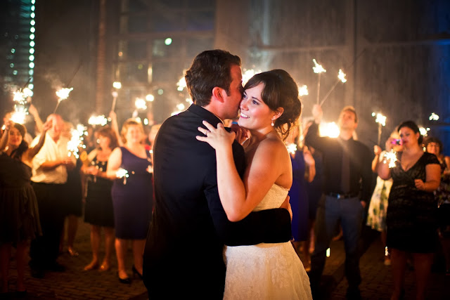 sparkler first dance wedding, steam whistle brewery wedding planner toronto hamilton oakville ontario KJ and co