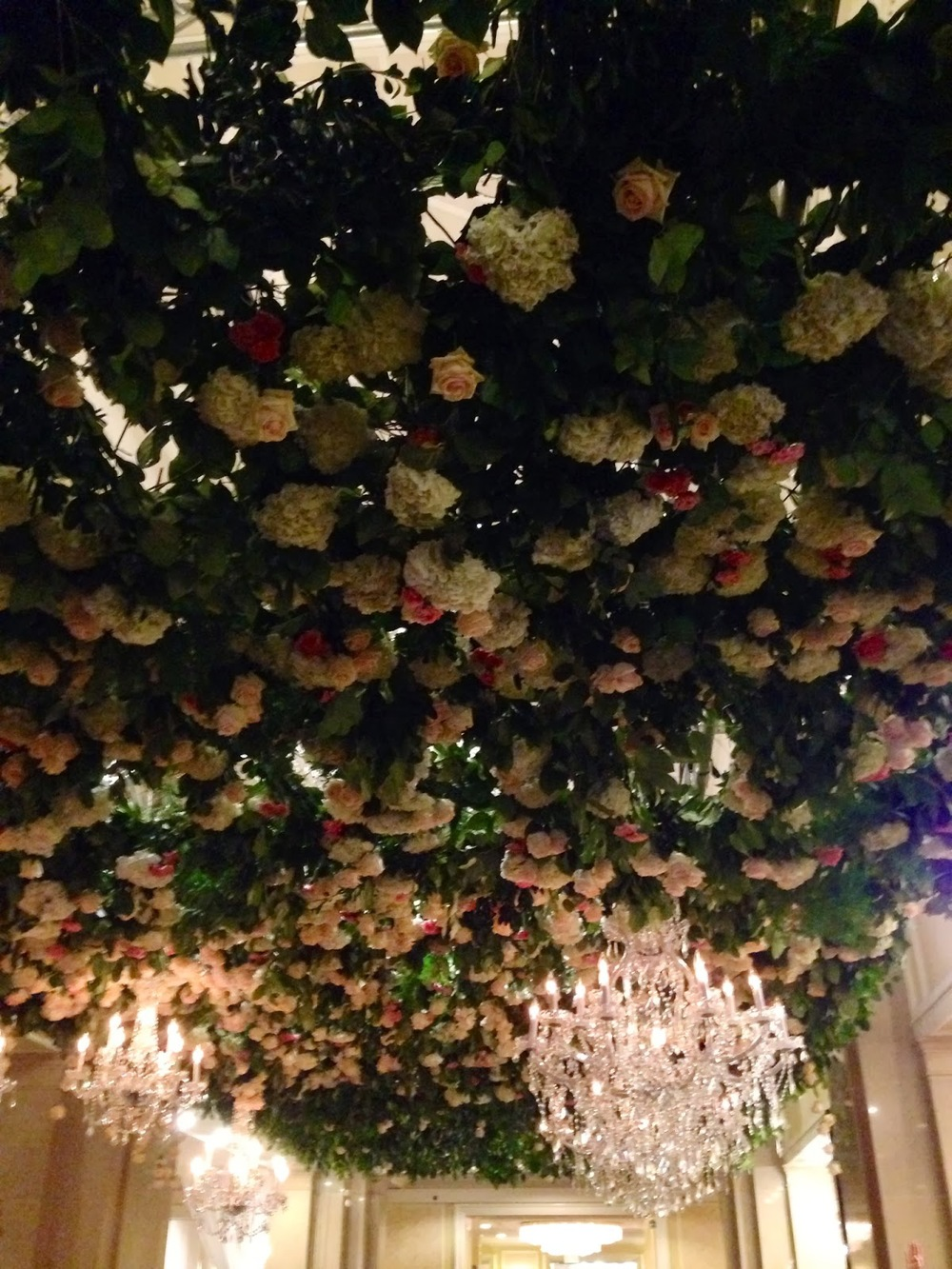 floral ceiling treatment at wed luxe show 2014