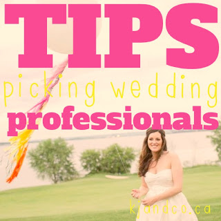 wedding planning tips picking professional vendors