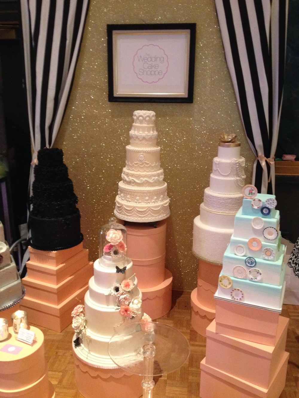 the wedding cake shoppe display at wed luxe show 2014