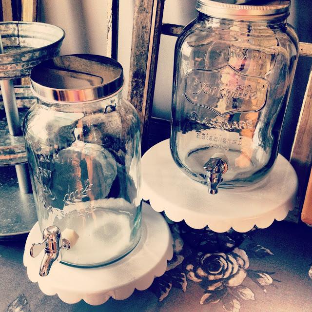 mason jar style beverage dispensers, vintage rentals ontario toronto halton