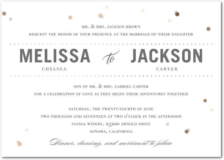 Lightly Dotted Wedding Invitations - shown in cashmere pink