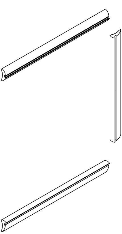 Figure 5 - This shows the head, side and cill wedges