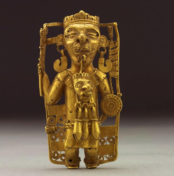 Incan idol statuette.