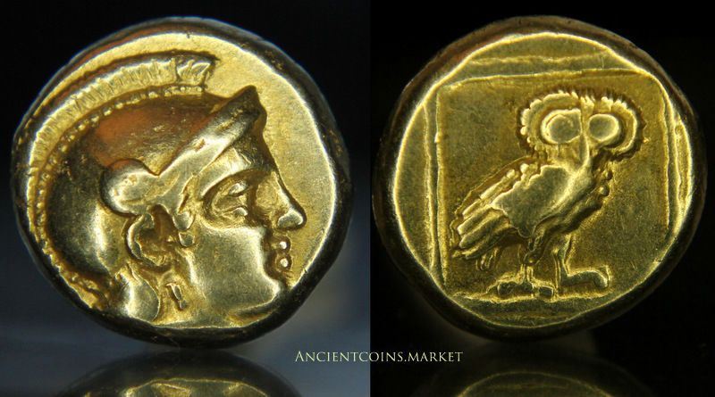 Gold coins from ancient Greece.