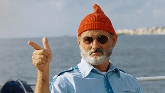"Steve Zissou (Bill Murray) from "" The Life Aquatic With Steve Zissou """