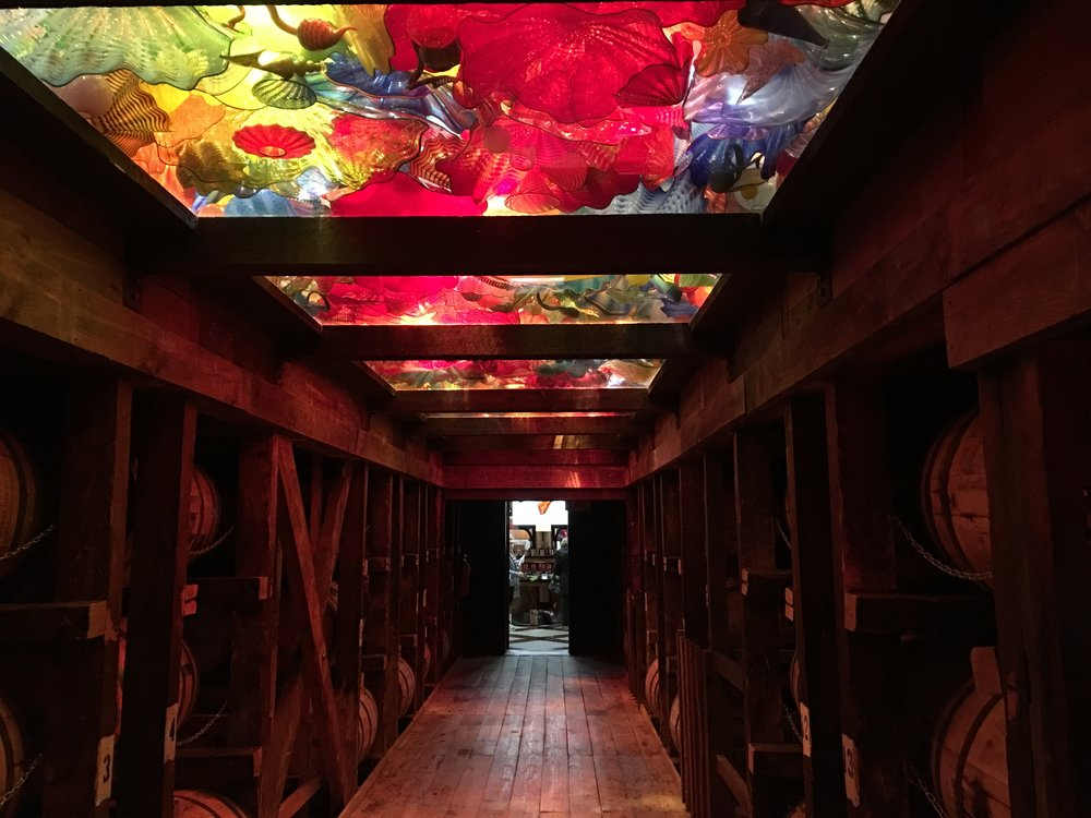 The artist Chihuly made this for the Maker's Mark aging room. This was incredible.