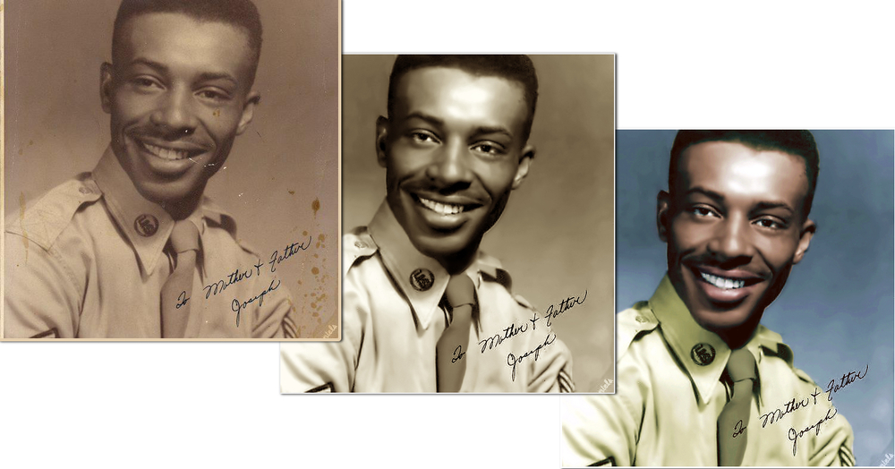 Veteran Photo Restored and Colorized