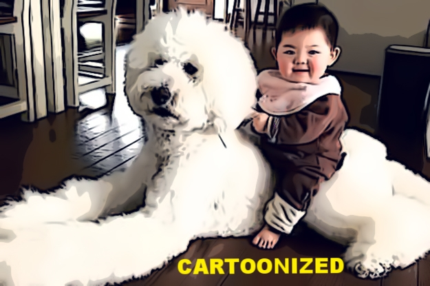 baby on dog cartoon.jpg