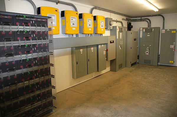 Multi-family solar inverters with battery storage