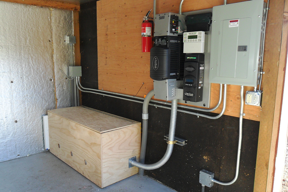 Off-Grid Inverter and battery storage