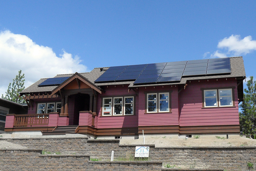 Net Zero home with grid-tied solar